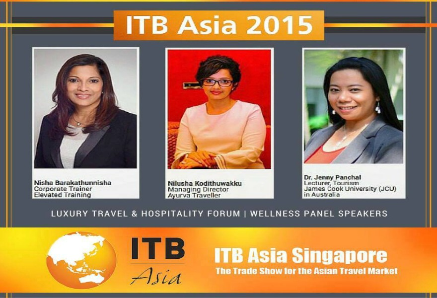 Ayurva wellness specialists taking part at ITB Asia 2015